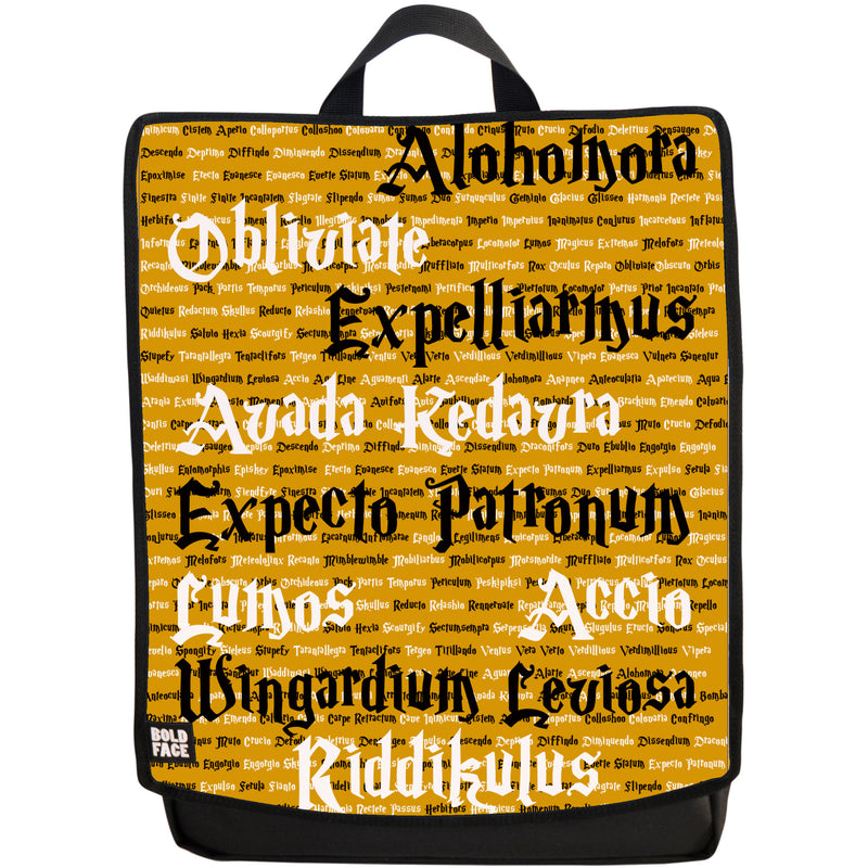 Spells for Wizards and Witches Backpack (Yellow)