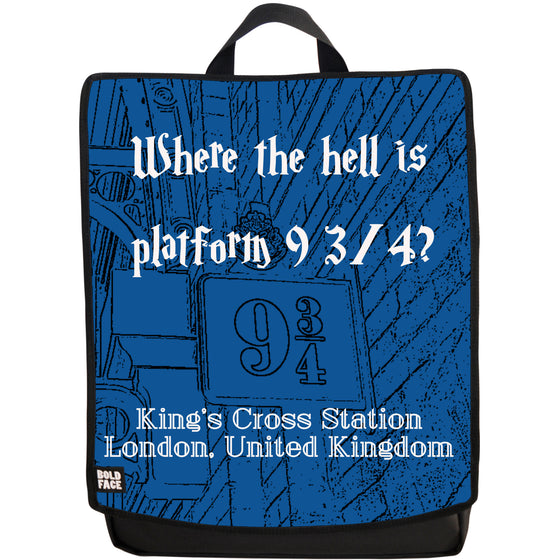Where the Hell is Platform 9 3/4? Backpack (Blue)