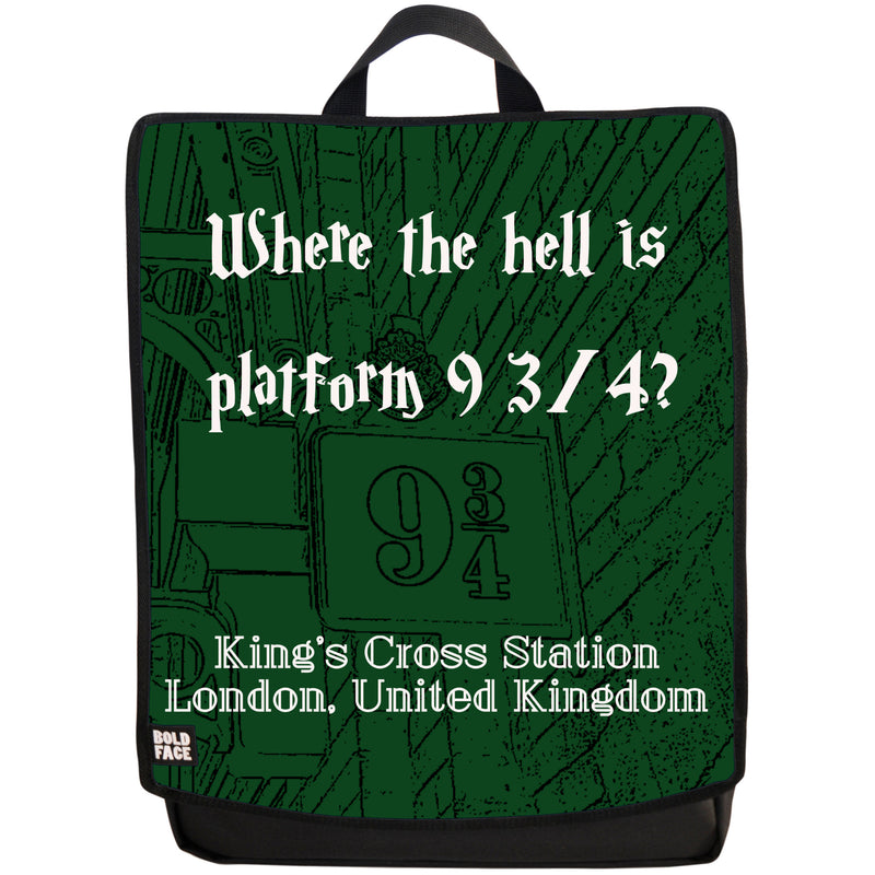 Where the Hell is Platform 9 3/4? Backpack (Green)
