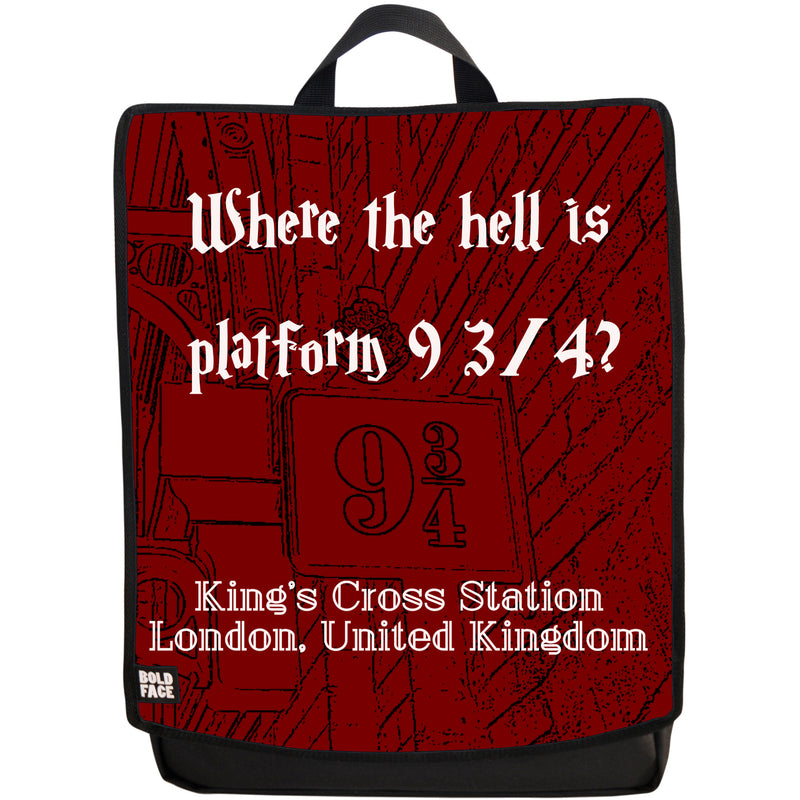 Where the Hell is Platform 9 3/4? Backpack (Red)