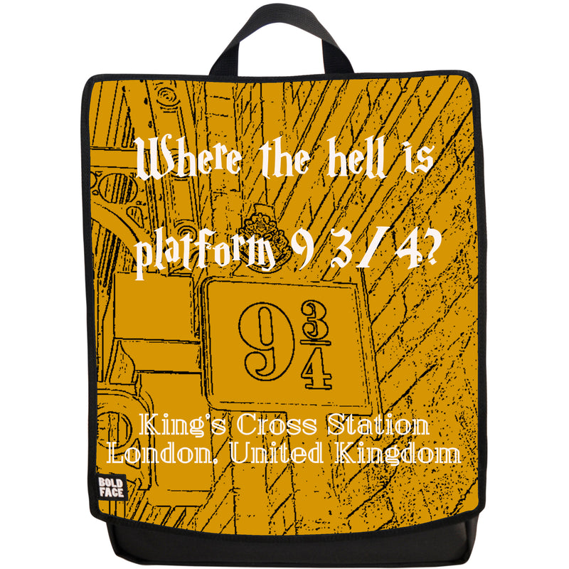 Where the Hell is Platform 9 3/4? Backpack (Yellow)