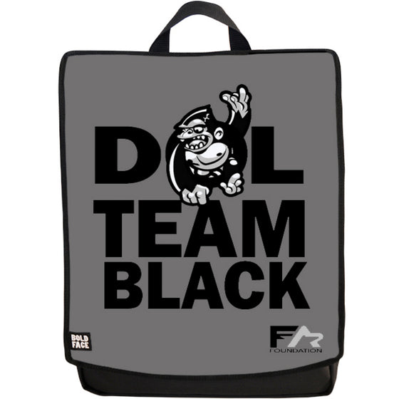 DOL Black Team Backpack Face Panel