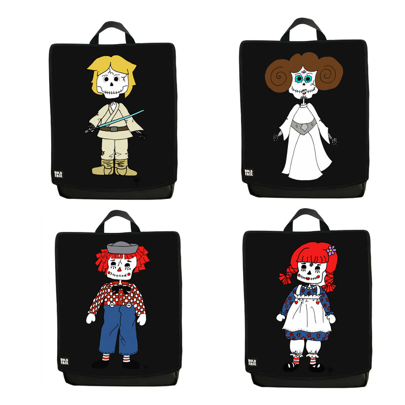 Day of the Dead Backpack 4-Pack (Black)