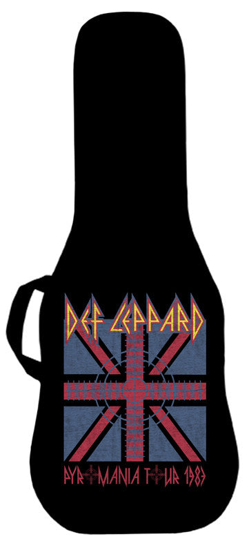 Def Leppard Pyromania 1983 Tour Guitar Bag Face Panel
