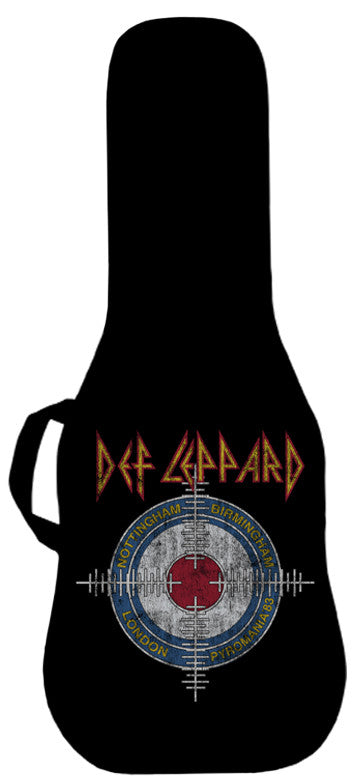 Def Leppard Pyromania Cross Hairs Guitar Bag #1 Face Panel