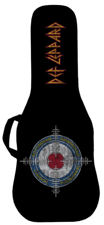 Def Leppard Pyromania Cross Hairs Guitar Bag #2 Face Panel