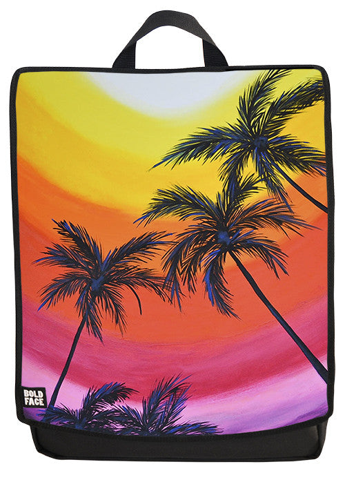 Colorful Palms - Drica Lobo Edition Back Pack Face Panel