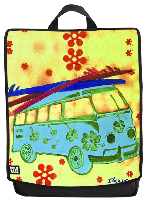 Hippy VW Bus - Drica Lobo Edition Backpack Face Panel