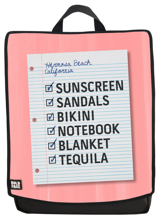 Beach Day Checklist Backpack