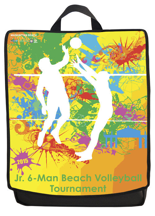 Junior 6-Man Manhattan Beach Volleyball Tournament Backpack Face Panel