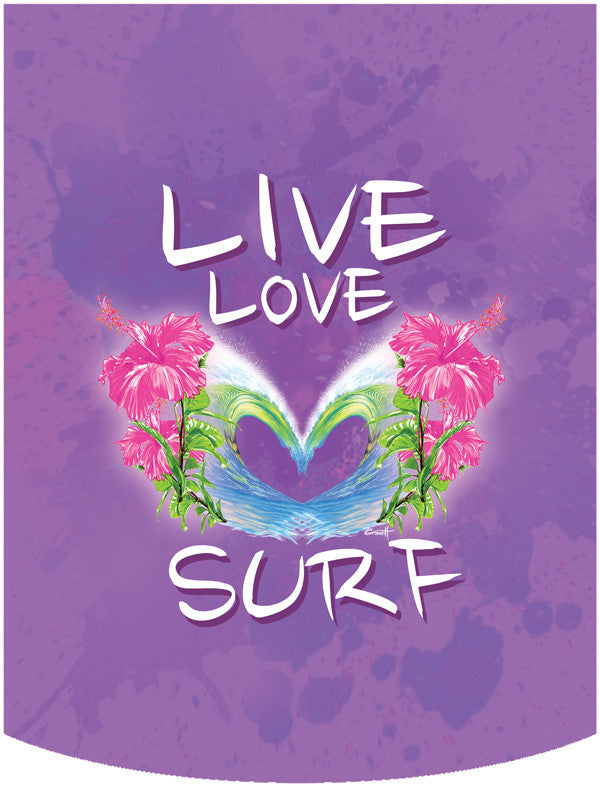 Live Love Surf Backpack Face Panel