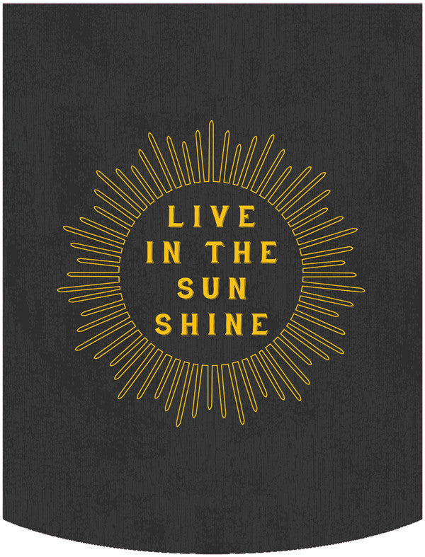 Live in the Sunshine (B) Backpack Face Panel
