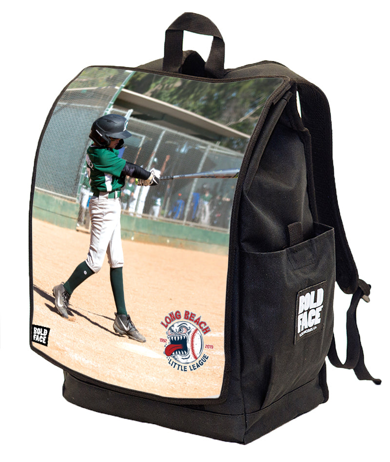 Long Beach Little League - 2019 Custom Action Shot Backpack - MAKE YOUR OWN!