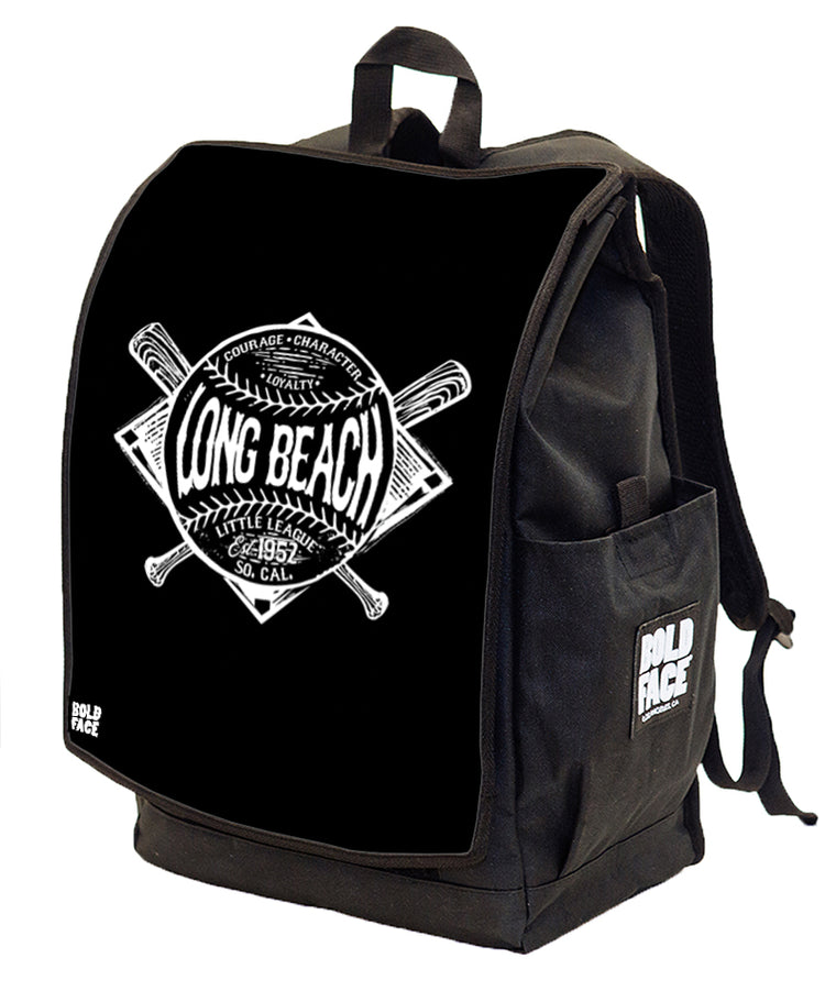Long Beach Little League - 2019 B&W Logo Backpack