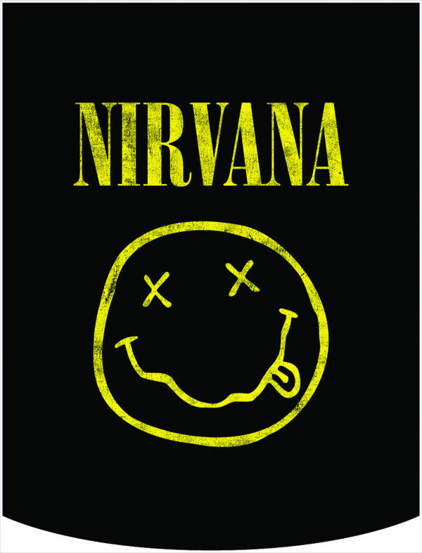 Nirvana Official Yellow Smiley Face Logo Backpack Face Panel