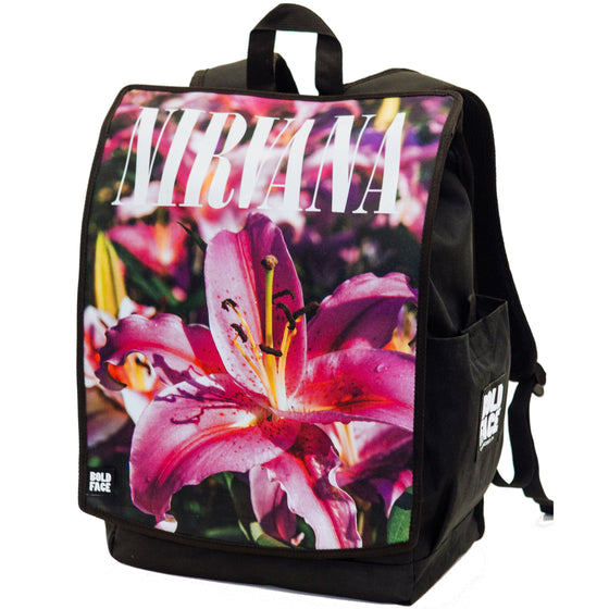 Nirvana Official Pink Lillies Backpack