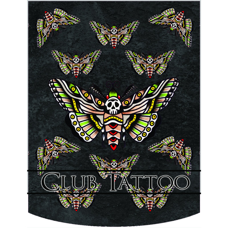 Club Tattoo Sugar Skull Moth Backpack