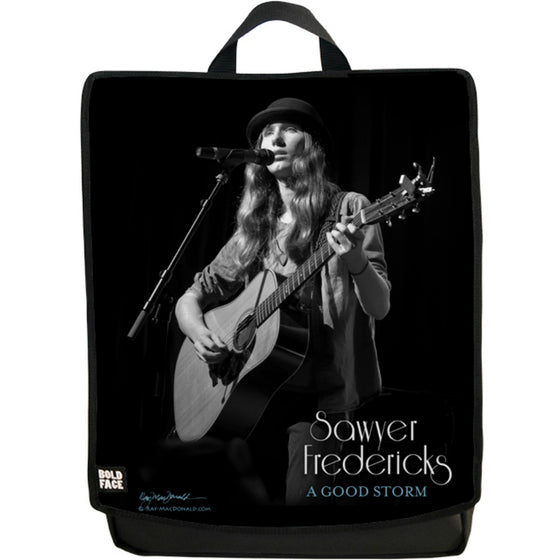 Sawyer Fredericks Live (Black/White) Backpack