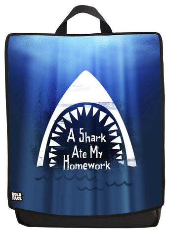 A Shark Ate My Homework Backpack