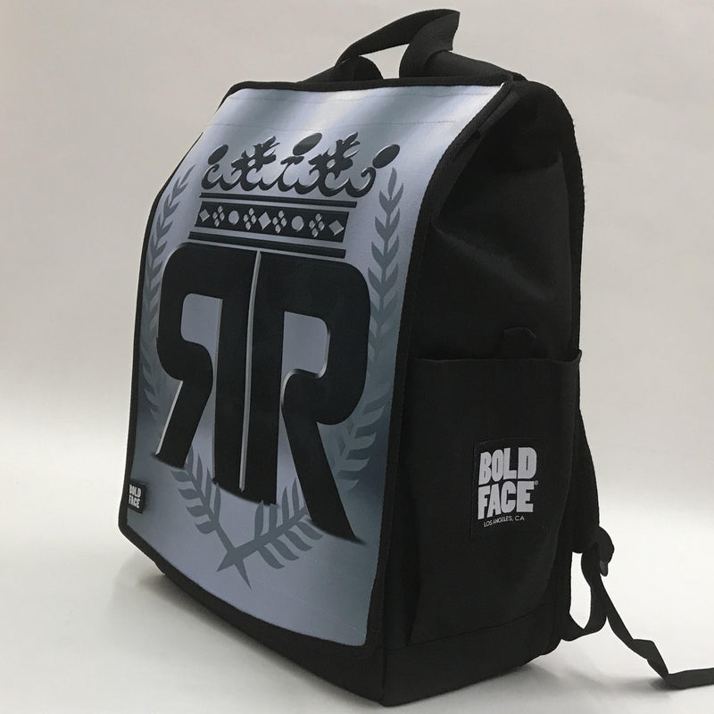 Ricky Rebel Backpack - Black and Silver Faces