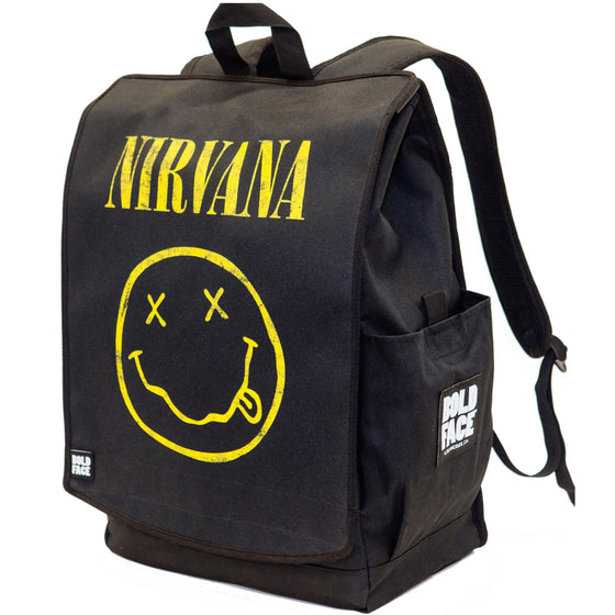 Nirvana Official Yellow Smiley Face Logo Backpack
