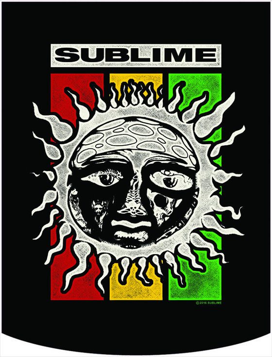 Sublime Rasta Sun Logo Backpack Face Panel