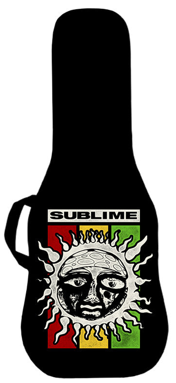 Sublime Rasta Sun Logo Guitar Bag Face Panel