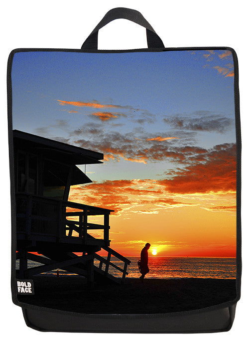 Hermosa Beach Sunset Backpack Face Panel