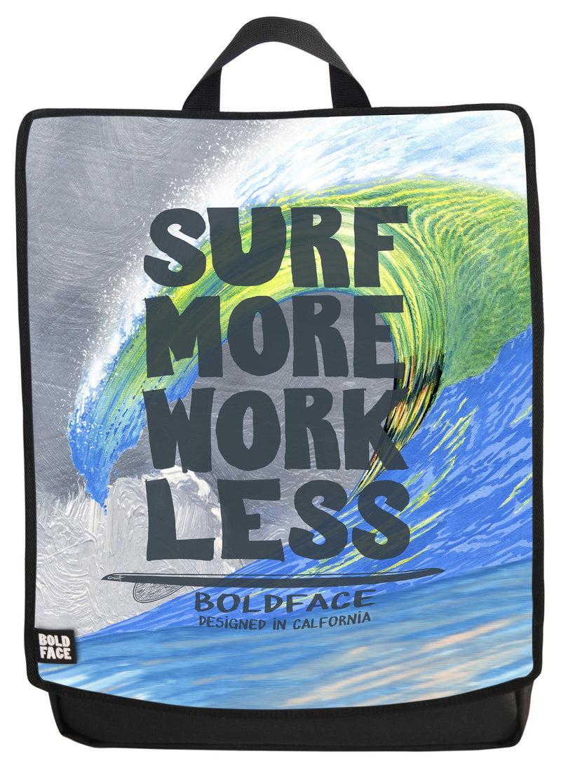 Surf More Work Less Backpack Face Panel