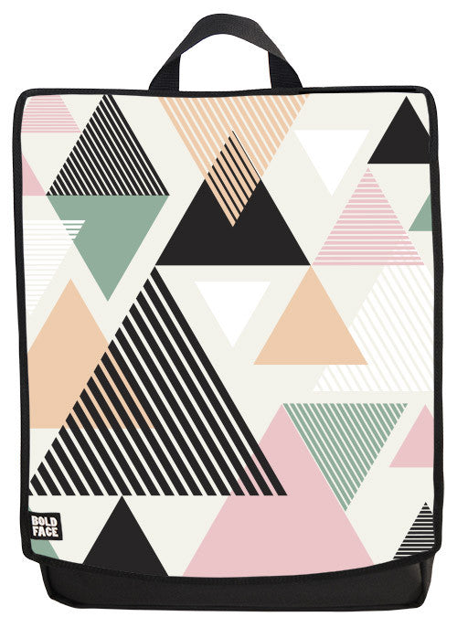Triangles Print Backpack Face Panel
