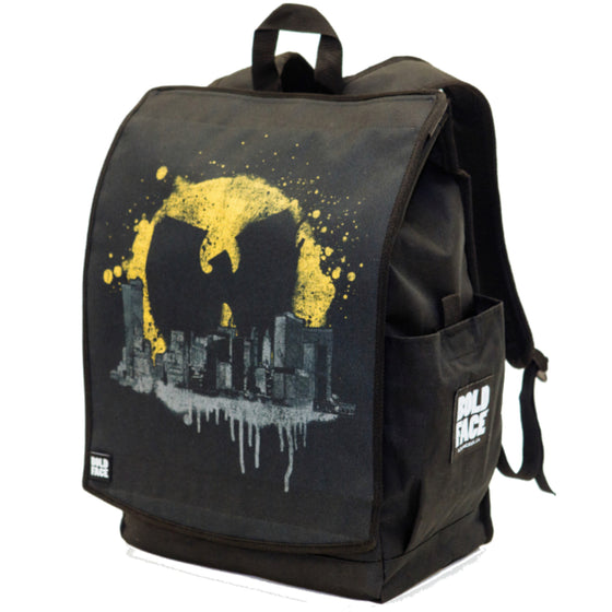 Wu-Tang Clan Official Bat Signal Over Cityscape Backpack
