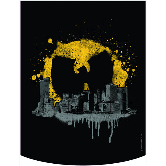 Wu-Tang Clan Official Bat Signal Over Cityscape Backpack Face Panel
