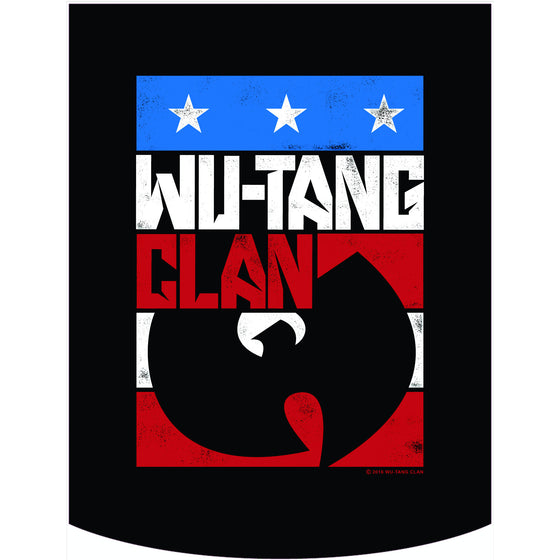 Wu-Tang Clan Official Red White Blue Logo Backpack Face Panel
