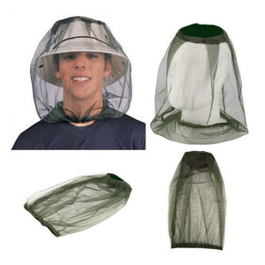 Outdoor Mesh Mosquito Head Net Face Protector Hat Cover