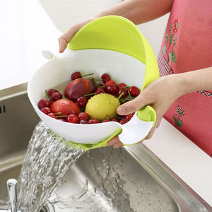 2-in-1 Detachable kitchen Strainer & Bowl Set