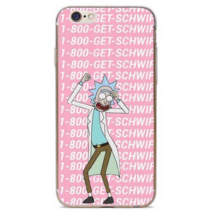 Rick and Morty Soft Phone Case for iPhone