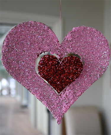 Blog, top five valentine day craft ideas for kids, Hanging Glitter Heart Valentine's Crafts