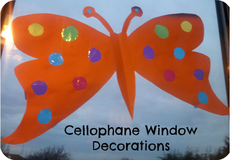 cellophane window decorations