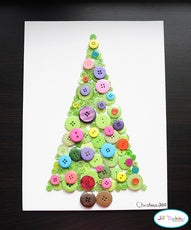 top five christmas craft ideas, button christmas tree