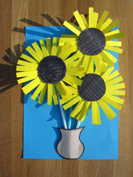 Blog, how to make a vincent van gogh sunflower, part eleven