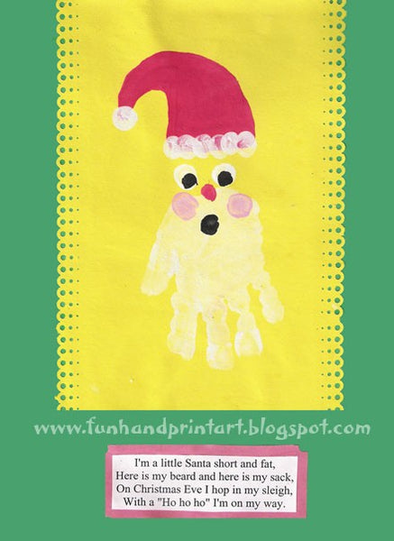 top five christmas craft ideas for kids, hand print santa