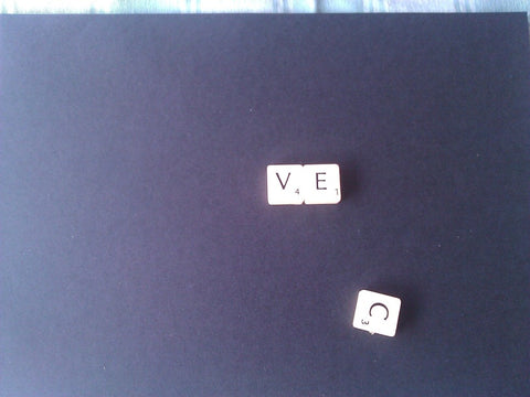 how to make 3D scrabble art, step one