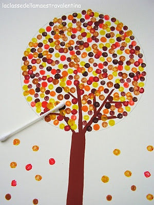 Top Ten Craft Ideas For Kids - 2012, cotton bud tree