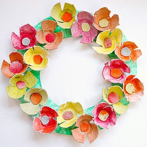 Top Ten Craft Ideas For Kids egg carton wreath