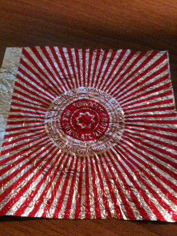 Blog, how to make a Tunnock teacake origami rose, step two