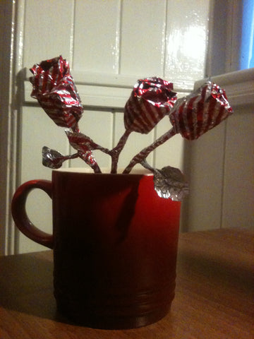 Blog, how to make a Tunnock teacake origami rose, step eleven