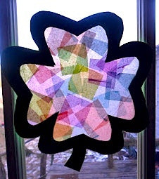 Blog, top five St Patrick's day craft ideas for kids, Shamrock Window Transparency