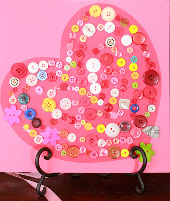 Blog, Top five valentines day crafts for kids, sorted button valentines day heart