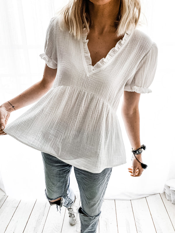 BLOUSE AELYS BLANCHE