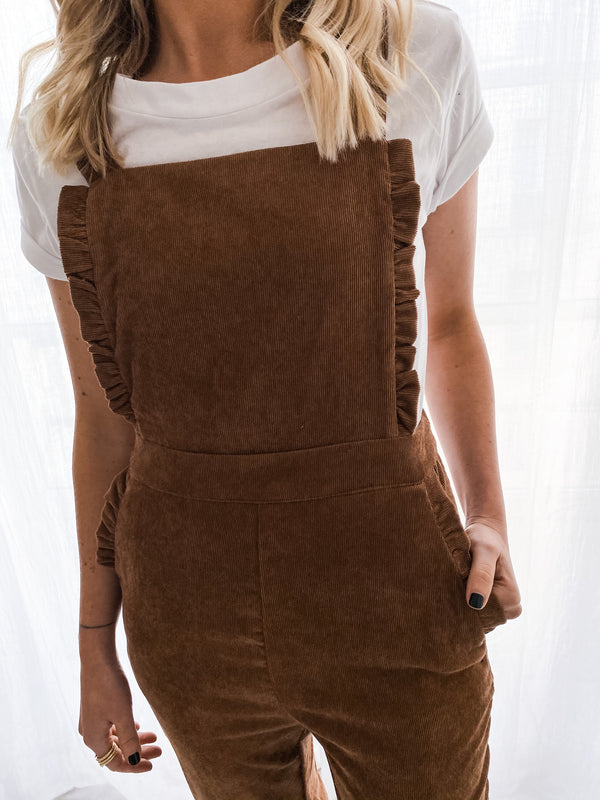 BROWN WOODY OVERALLS